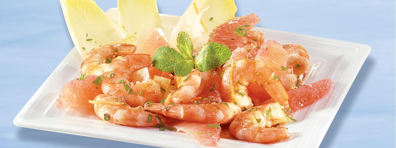 Salade de crevettes et de pamplemousse