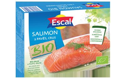 2 pavés de saumon bio