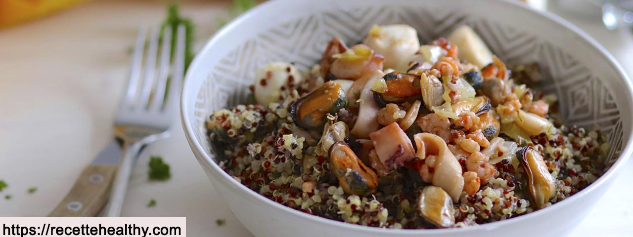 Trio de quinoa aux fruits de mer