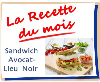 Sandwich Avocat- Lieu Noir
