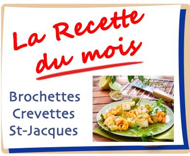 Brochettes de crevettes et Noix de Saint-Jacques aux citrons confits