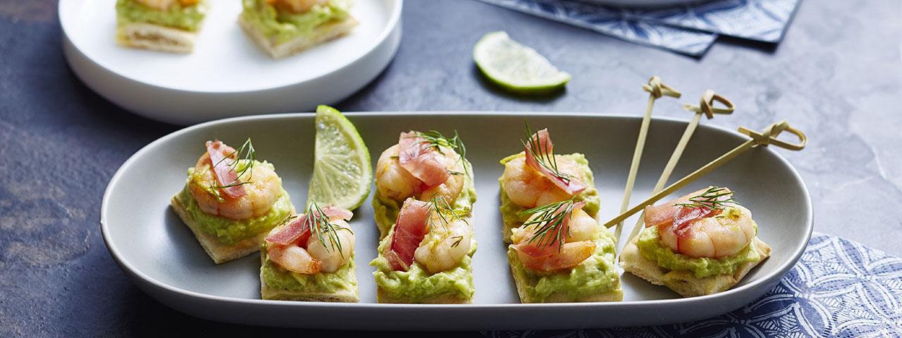 Mini-sandwichs polaires aux crevettes