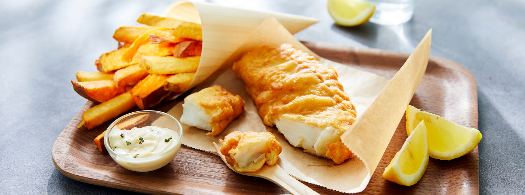 Cabillaud façon Fish & Chips