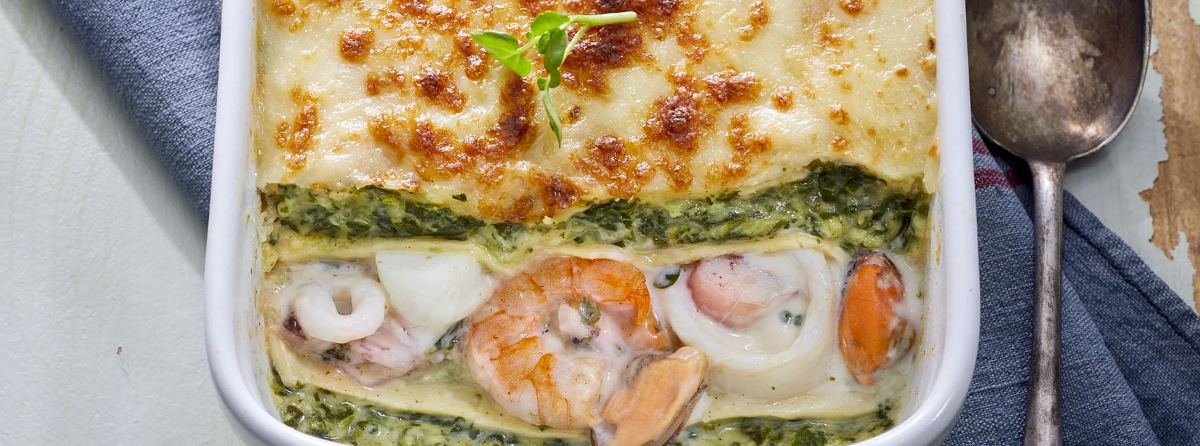 Lasagnes de fruits de mer