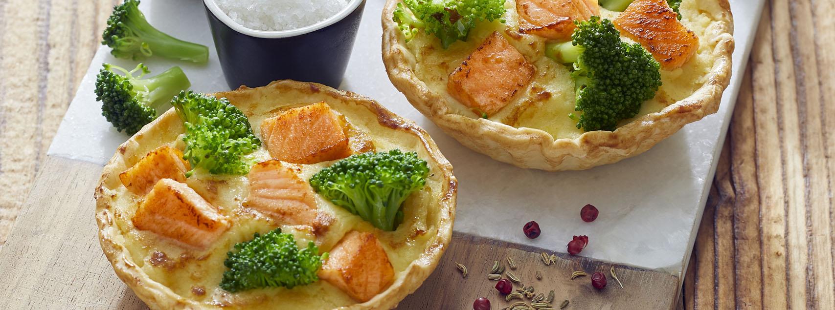 Quiche saumon – brocoli