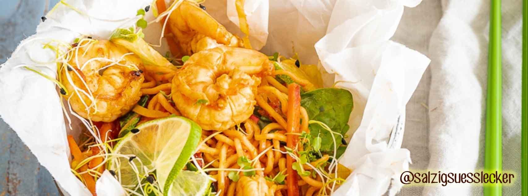 Wok épicé aux crevettes King Size et légumes