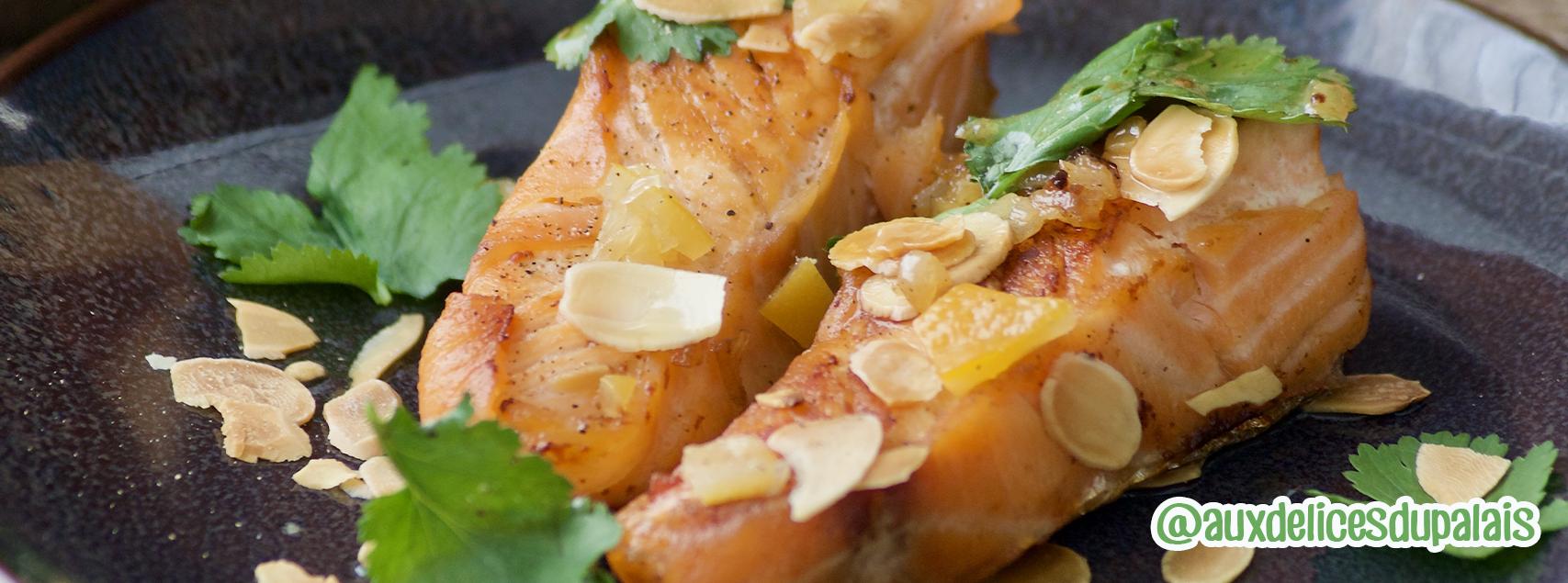 Roulé de saumon rôti au citron confit